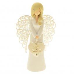 """Copertina di 'Statua in resina bianca angelo """"Per sempre"""" - altezza 15 cm'"""