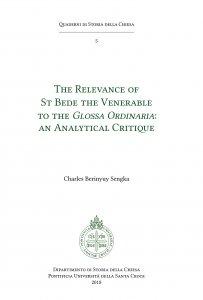 Copertina di 'The relevance of St Bede the Venerable to the Glossa Ordinaria: an Analytical Critique'