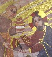 Immagine di 'Quadro stampa Samaritana al pozzo Padre Rupnik - 8 x 10,5 cm'
