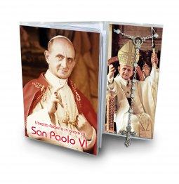 Copertina di 'Libretto con rosario Papa Paolo VI - italiano'