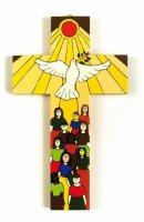 Croce Dono dello Spirito (altezza 15 cm) di  su LibreriadelSanto.it