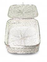 Portarosario in filigrana d'argento 925 a forma quadrata