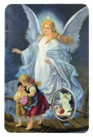 Card Angelo Custode in PVC - 5,5 x 8,5 cm - francese