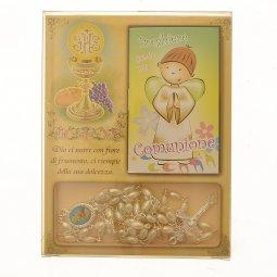 Copertina di 'Confezione ricordo Comunione con rosario e libricino di preghiere'