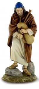 Copertina di 'Statue presepe: Pastore con zampogna linea Martino Landi per presepe da cm 120'