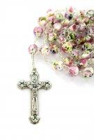Immagine di 'Rosario vetro rosellina bianco'