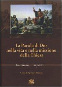 Copertina di 'La Parola di Dio nella vita e nella missione della Chiesa'