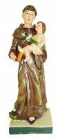 Statua di Sant Antonio da 20 cm in confezione regalo con segnalibro in IT/IN/SP/FR