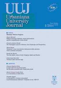 Copertina di 'Urbaniana University Journal. Euntes Docete LXVI/1-2014: Missione: Work in Progress.'