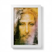 """Quadretto """"Sacra Sindone"""" con cornice minimal - dimensioni 15x10 cm"""