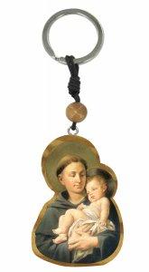 Copertina di 'Portachiavi San Antonio di Padova in ulivo con grano e immagine serigrafata'