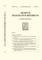 Die Vita brevior des Franziskus von Assisi und ihre entfernten Verwandten  (3-32) - Paul Bösch