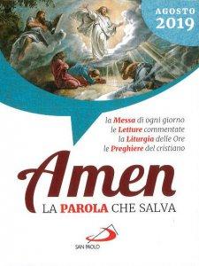 Copertina di 'Amen. La Parola che salva. Agosto 2019'