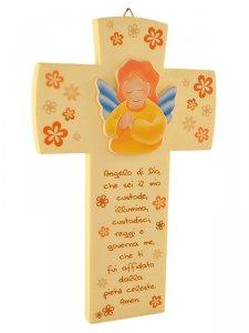 """Copertina di 'Croce effetto pietra """"Angelo di Dio"""" - dimensioni 16,5x10,5 cm'"""