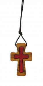 Copertina di 'Croce in legno di ulivo con cordone - 4 cm'