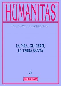 Copertina di 'Humanitas. 5/2016: Pira, gli ebrei, la Terra Santa. (La)'