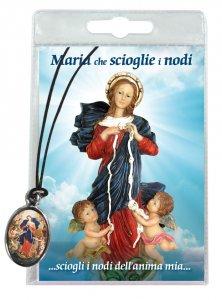 Copertina di 'Medaglia Maria che scioglie i nodi con laccio e preghiera in italiano'