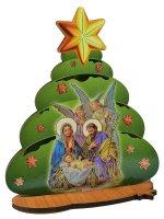Albero di Natale da appoggio con Natività