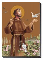 Icona San Francesco d'Assisi da tavolo - 9,5 x 6,3 cm