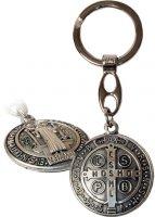 Portachiavi con Medaglia di San Benedetto in metallo