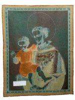 """Immagine di 'Arazzo sacro """"Sant'Antonio con Gesù Bambino"""" - dimensioni 65x53 cm'"""