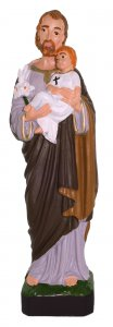 Copertina di 'Statua da esterno San Giuseppe in materiale infrangibile dipinta a mano cm 16'