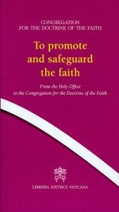 Copertina di 'To promote and safeguard faith'