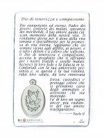 Immagine di 'Card  San Giovanni Paolo II con medaglia resinata Gesù Misericordioso cm 5,5 x 8,5'
