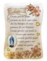 Calamita Zio con immagine resinata della Madonna Miracolosa - 8 x 5,5 cm