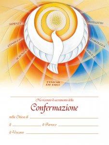 """Copertina di 'Pergamena grande con simboli """"Santa Cresima"""" - dimensioni 24x18 cm (10 pezzi)'"""