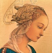 Immagine di 'Tavola Madonna del Lippi stampa su legno - 28 x 21 cm'