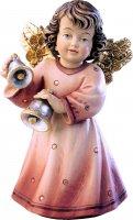Statuina dell'angioletto con campanelle, linea da 10 cm, in legno dipinto a mano, collezione Angeli Sissi - Demetz Deur