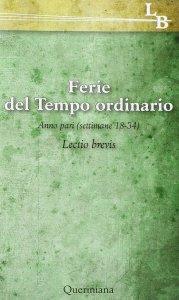 Copertina di 'Ferie del tempo ordinario. Anno pari (settimane 18-34)'