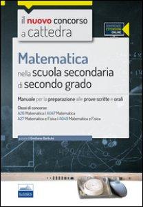 Copertina di 'CC4/26 Matematica nella scuola secondaria di II grado. Per le classi A26 (A047) e A27 (A049). Con espansione online'
