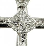 Immagine di 'Croce in metallo argentato con Cristo - 3 cm'