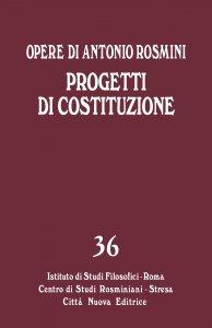 Copertina di 'Progetti di Costituzione. Progetto di Costituzione per lo Stato romano'