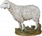 Pecora testa alta in resina dipinta cm 16 - Linea Martino Landi