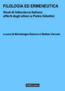 Copertina di 'Filologia ed ermeneutica'
