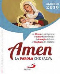 Copertina di 'Amen. La Parola che salva. Maggio 2019'
