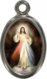 Copertina di 'Medaglia Gesù Misericordioso in metallo nichelato e resina - 2,5 cm'