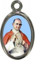 Medaglia Beato Paolo VI in metallo nichelato - 2,5 cm