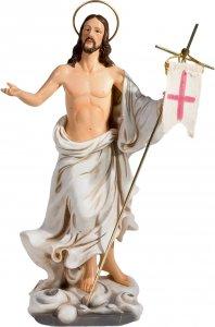 """Copertina di 'Statua in resina colorata """"Cristo risorto"""" - altezza 20 cm'"""
