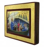 Immagine di 'Icona Gesù e Discepoli - tempesta sedata, produzione greca su legno (20 x 15 cm)'