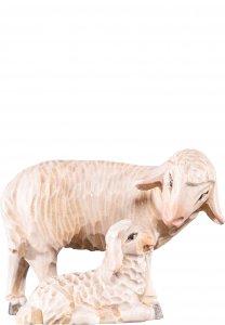 Copertina di 'Pecora con agnello R.K. - Demetz - Deur - Statua in legno dipinta a mano. Altezza pari a 15 cm.'
