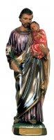 Statua di San Giuseppe in gesso madreperlato dipinta a mano - cm 20 di  su LibreriadelSanto.it
