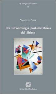 Copertina di 'Per un'ontologia post-metafisica del diritto'