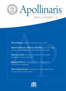 Copertina di 'Apollinaris n. 1/2011'