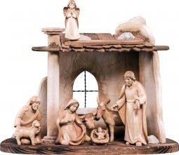 Copertina di 'Presepe completo in legno Val Gardena Artis 9 pezzi - Demetz - Deur - presepe in legno brunito a 3 colori da 15 cm.'