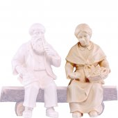 Nonna seduta H.K. - Demetz - Deur - Statua in legno dipinta a mano. Altezza pari a 11 cm.