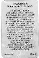 Immagine di 'Card San Giuda Taddeo della guarigione in PVC con preghiera e medaglia - 5,5 x 8,5 cm - Spagnolo'